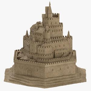 sand castle 01 3D model