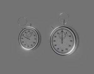 stopwatch watch stop 3D