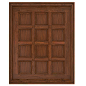 wooden ceiling caissons classic 3D model
