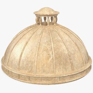 3D model stone dome