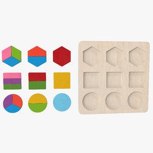 3D wood puzzle v1