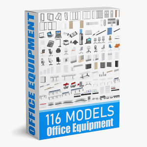 3D 116 office equipment model