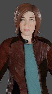 3D model woman tiffany ready games