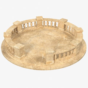 3D stone balustrade model
