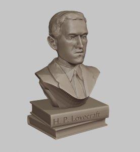 3D model lovecraft bust
