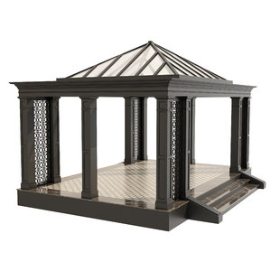 architecture gazebo pergola model