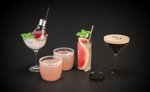 cocktail alcohol drink 3D model