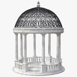 marble stone garden gazebo model
