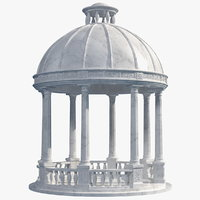 Outdoor Marble Gazebo with Roof
