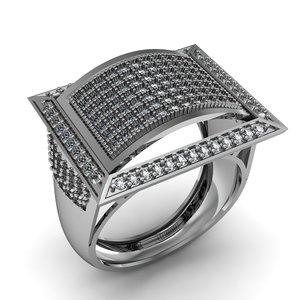 gem ring engagement 3D