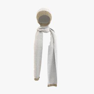 hat scarf 3D model