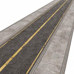asphalt road 3D model