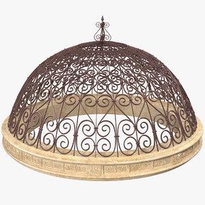 antique metal dome roof 3D model