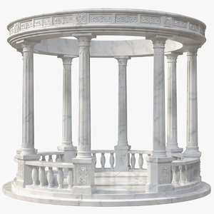 marble colonnade 3D model