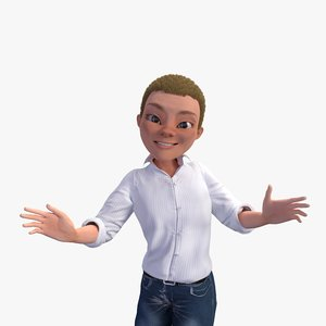 rigged character human 3D