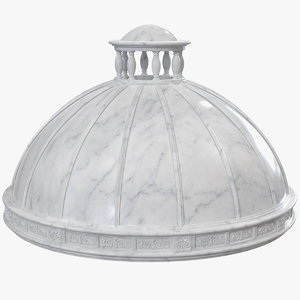 3D antique marble dome model