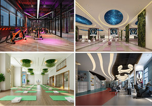 gym interior model
