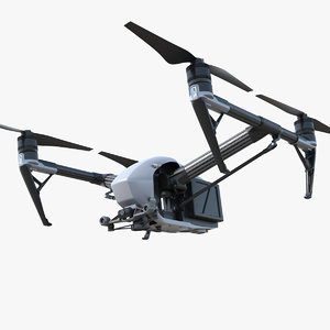 3D dji inspire 2 quadcopter model