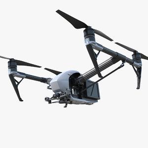 3D dji inspire 2 quadcopter model