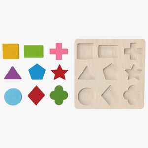 wood puzzle v2 3D model