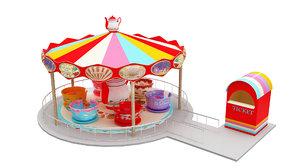 tea cup ride 3D model