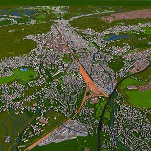 3D extra details street city
