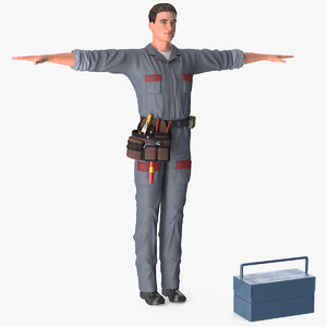 3D locksmith t-pose
