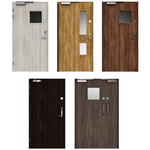 3D wooden swing doors model
