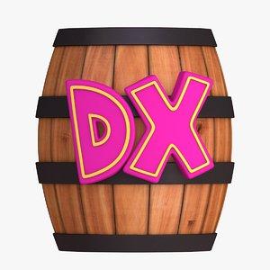 barrel - donkey kong 3D