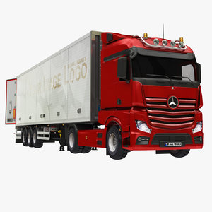 3D box trailer truck 2