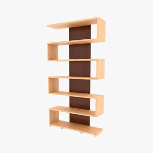 bookshelf minimalist 3D model