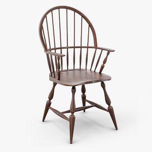 3D windsor armchair chair model