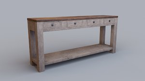 table drawers 3D model