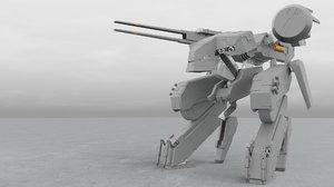 blender metal gear rex 3D