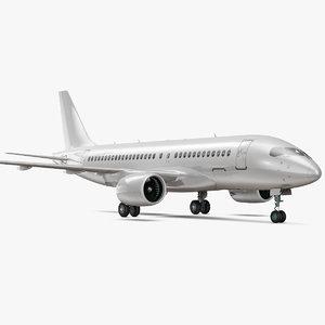 3D airbus a220 100 interior