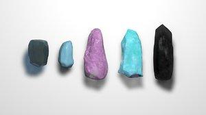 gems gemstones ruby 3D
