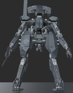 blender metal gear sahelanthropus model