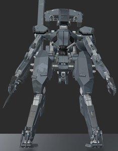 blender metal gear sahelanthropus model