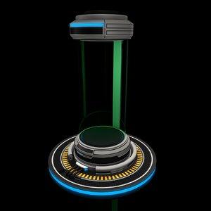 sci fi liquid container 3D model