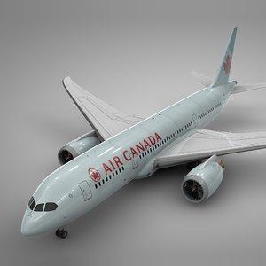 3D boeing 787 dreamliner air canada