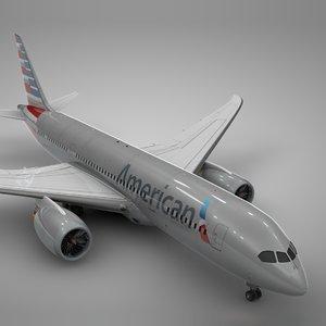3D boeing 787 dreamliner american airlines