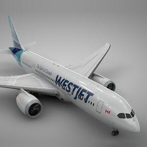 boeing 787 dreamliner west 3D
