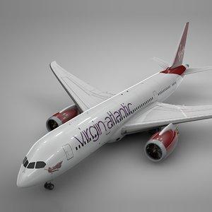 boeing 787 dreamliner virgin atlantic 3D model