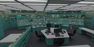control room nuclear power 3D