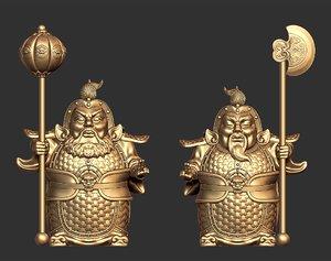 3D door gods highpoly model
