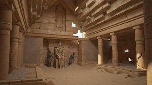 tomb pharaohs ruins 3D model