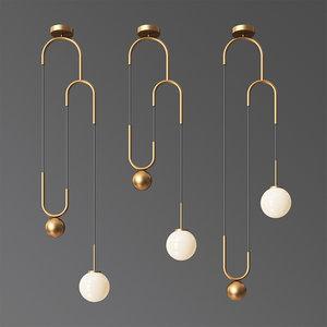 cradle brass pulley pendant light model