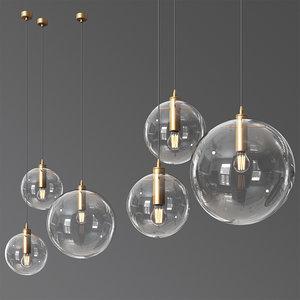 classicon selene suspension lamp 3D model