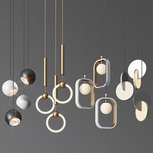 3D - pendant light 18 model