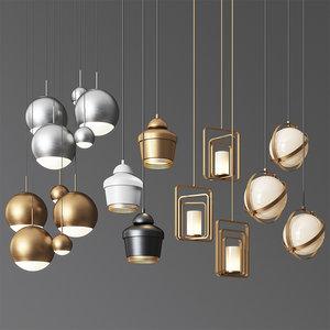 - pendant light 19 3D model